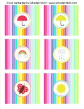 Classroom Decor Rainbow 3 inch Rainbow Tags