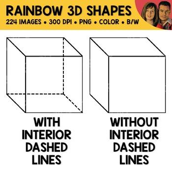 Rainbow 3D Shape Clipart