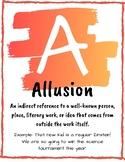 Rainbow ABC High School English Vocabulary Posters