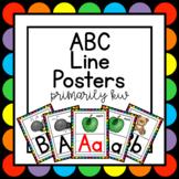 Rainbow ABC Line Posters
