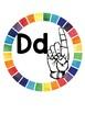 Rainbow ASL Alphabet Circles
