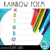 Rainbow Acrostic Poem FREEBIE