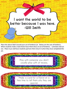 Rainbow Acts of Kindness