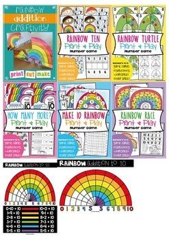 Rainbow Addition Printable Pack
