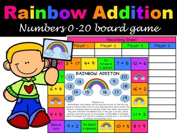 Rainbow Addition Board Game