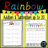 Rainbow Addition & Subtraction Roll and Solve