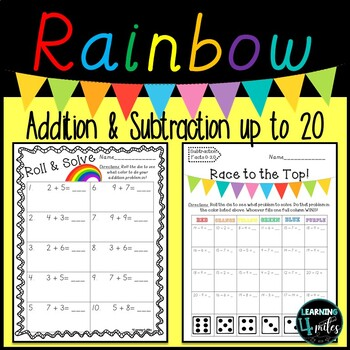Addition & Subtraction Roll and Solve
