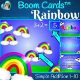 Rainbow Addition to 10 for Boom Cards™