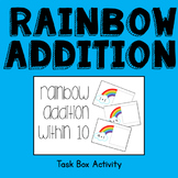 Rainbow Addition within 10 Task Box Activity