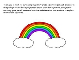 Rainbow Adjectives Packet