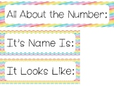 Rainbow All About the Number Bulletin Board Labels. Classroom Accessories.