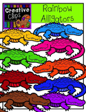 Rainbow Alligators {Creative Clips Digital Clipart}