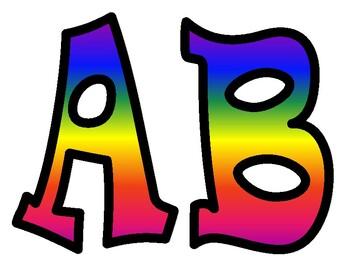 Rainbow Alphabet Bulletin Board Letters