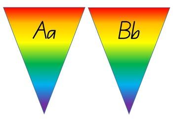 Rainbow Alphabet Bunting