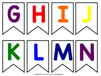 Rainbow Alphabet Bunting FREEBIE