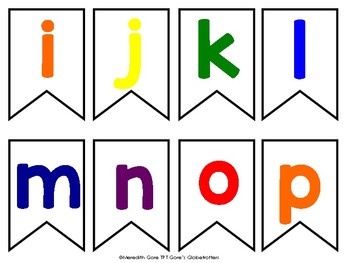 Rainbow Alphabet Bunting FREEBIE