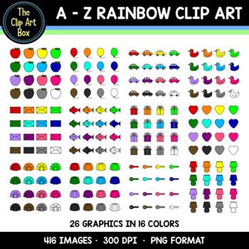 Rainbow Alphabet Set - Clip Art