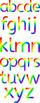 Rainbow Letters of the Alphabet Clipart