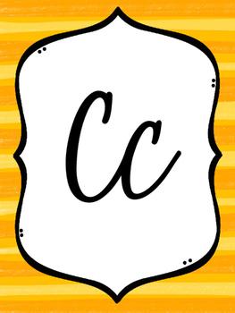 Rainbow Alphabet-Cursive