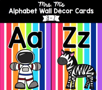 Rainbow Alphabet Decor Cards