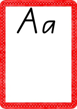 Rainbow Alphabet Handwriting A-Z Charts- QLD beginners script