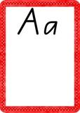 Rainbow Alphabet Handwriting A-Z Charts- QLD beginners script