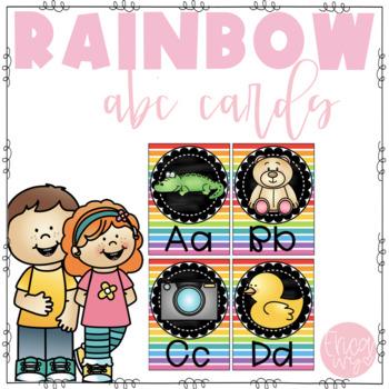 Rainbow Alphabet Letters