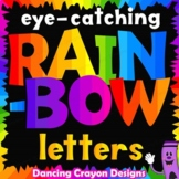 Rainbow Alphabet Letters Clip Art Bundle
