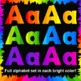 Rainbow Alphabet Letters Clip Art Bundle