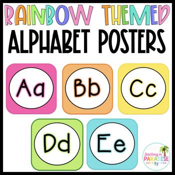 Rainbow Alphabet Line