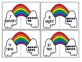 Rainbow Alphabet & Number Match