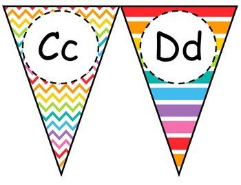 Rainbow Alphabet Pennant