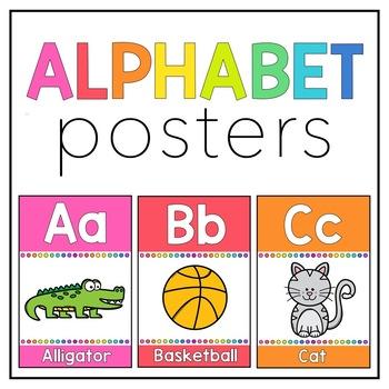 Rainbow Mini Alphabet Posters