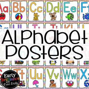 Rainbow Alphabet Posters with Pictures