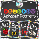 {RAINBOW} Alphabet Posters with pictures