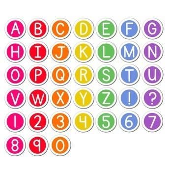 Rainbow Alphabet Sticker Clip Art | Chalkboard Brights Style ~*Commercial Use*~
