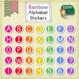 Rainbow Alphabet Sticker Clip Art | Chalkboard Brights Sty
