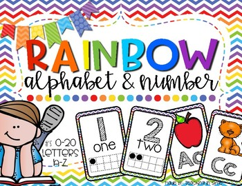 Rainbow Alphabet and Number poster
