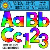 Rainbow Alphabet and Numbers Clip Art
