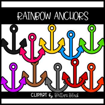 Rainbow Anchors Clipart