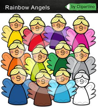 Rainbow Angels Clip Art