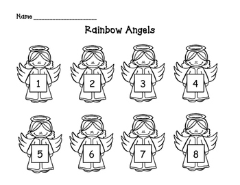RAINBOW ANGELS: a color word & number activity for young children