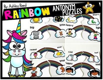 Rainbow Antonym Puzzles