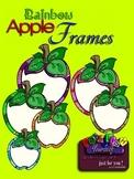 Rainbow Apple Frames Clipart