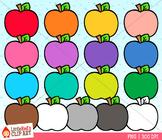Rainbow Apples Clip Art