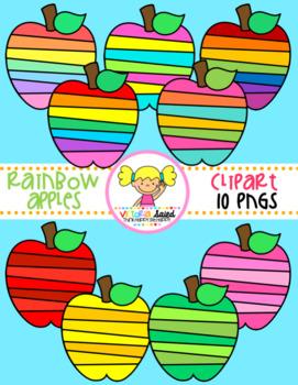 Rainbow Apples Clipart
