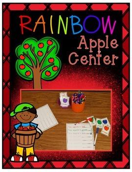 Rainbow Apples ~ Color Word Center