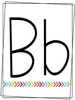 Rainbow Arrow Alphabet & Numbers