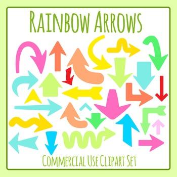 Rainbow Arrows Clip Art Commercial Use