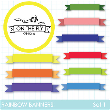 Rainbow Banners Clip Art